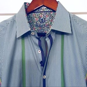 Men's Bugatchi Multi Striped Long Sleeved Shirt